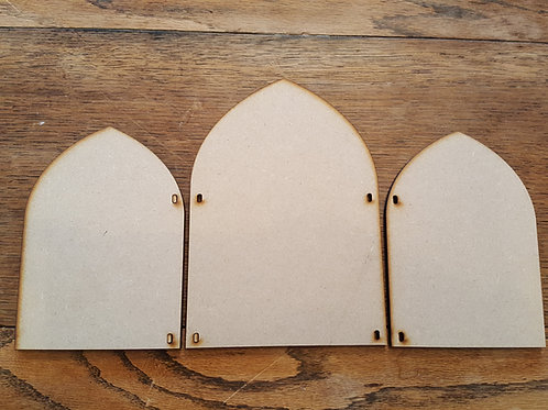 Laser cut Triptych 3 large kit in 6mm MDF