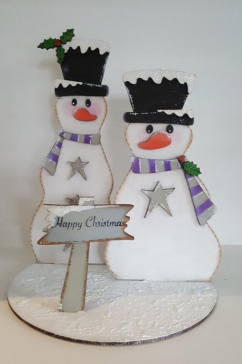 Freestanding Snowmen