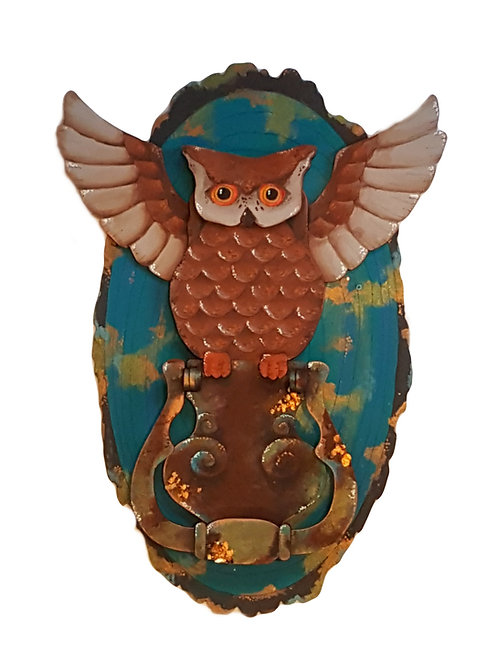 Owl Door Knocker Plaque