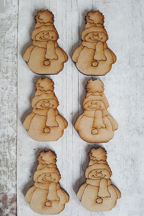 Miniature mdf snowmen blanks for crafting .
