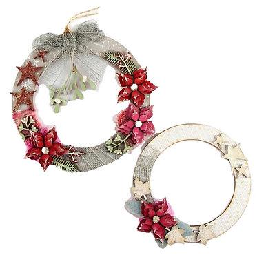 Mistletoe / Poinsettia Wreaths