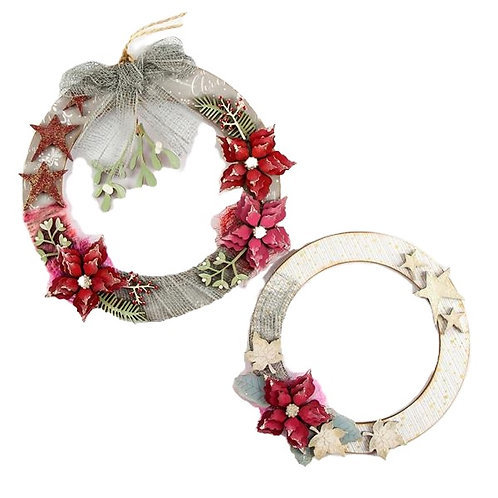 Mistletoe / Poinsettia Wreaths