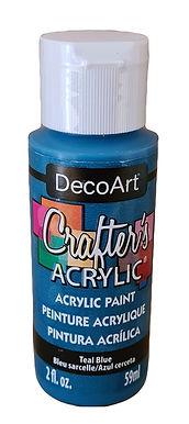 Teal Blue Acrylic Paint
