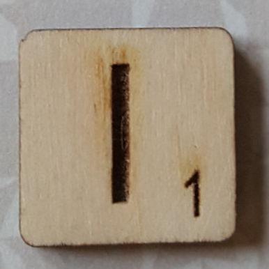 Letter I Scrabble Tile