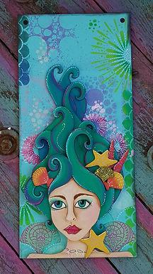 Mermaid Head Plaque