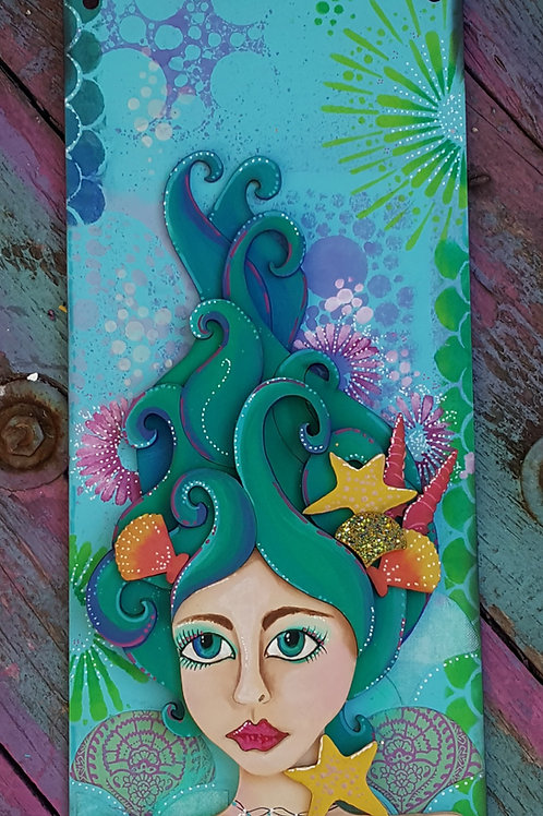 Mermaid Head Plaque