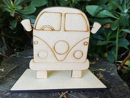 Campervan MDF Craft Kit for painting or decopatching