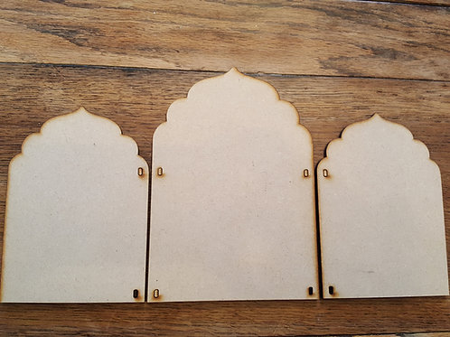 Laser cut Triptych 4 large kit in 6mm MDF