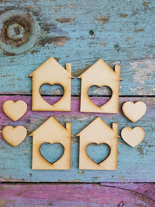 Medium Heart Houses