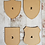 MDF shields in various sizes.