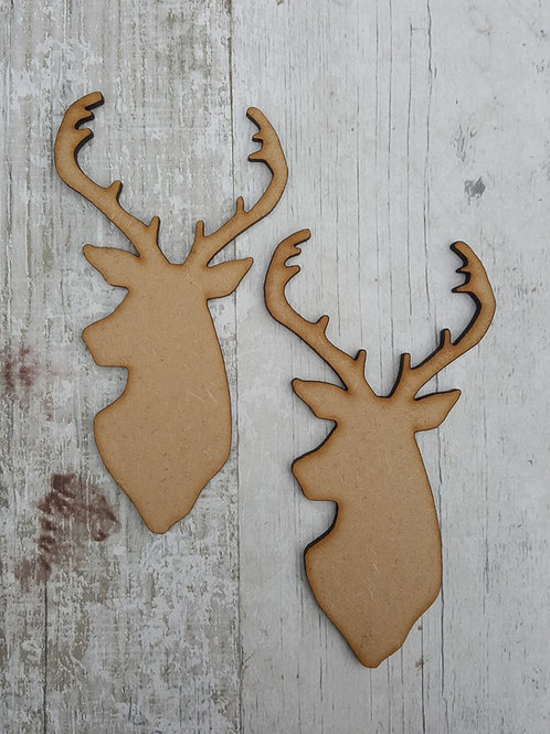 Side facing stags head craft blanks in 3.2mm MDF