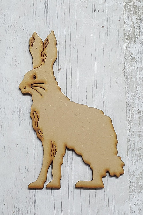 Laser cut hare made from 3.6mm MDF medium size