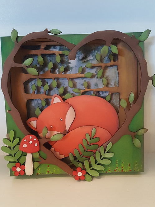 Sleepy Fox Box Frame