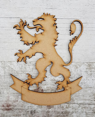 Lion Rampant and Scroll