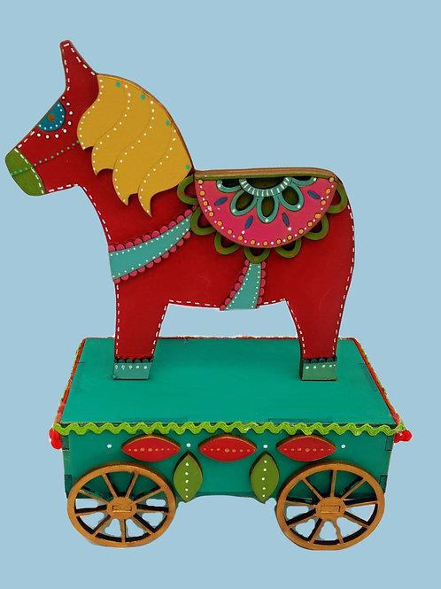 Dala Horse on Cart