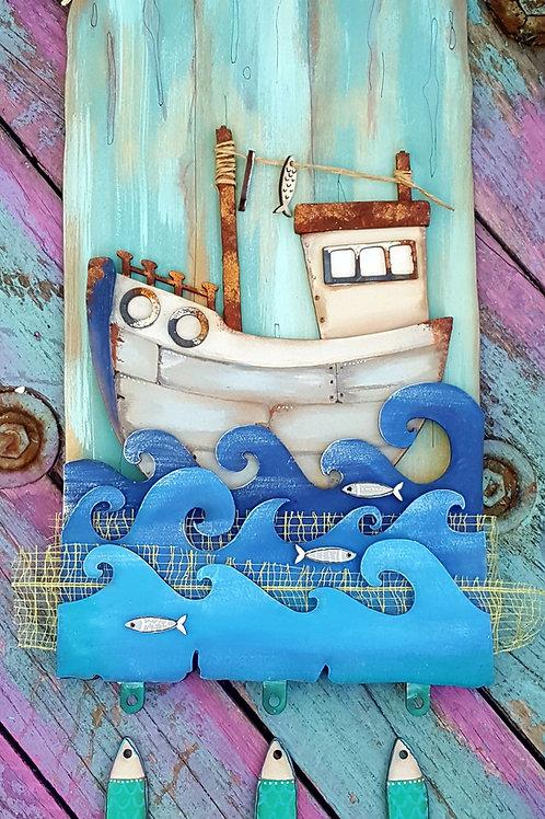 Fishing Boat Plaque