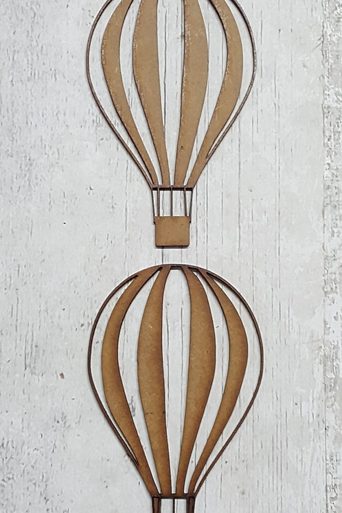 Laser cut hot air balloons in 2 or 3.6mm MDF