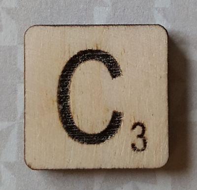 Letter C Scrabble Tile