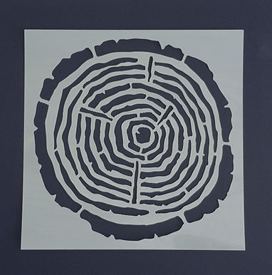 Log Slice Stencil
