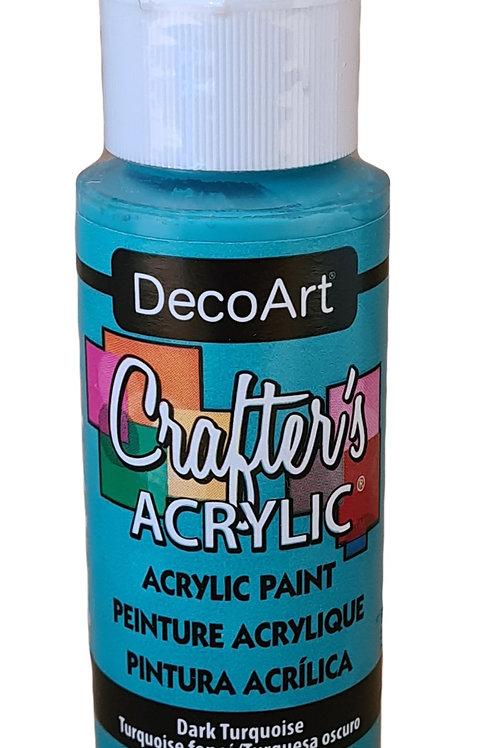Dark Turquoise Acrylic Paint