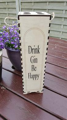 Drink Gin be happy bottle box