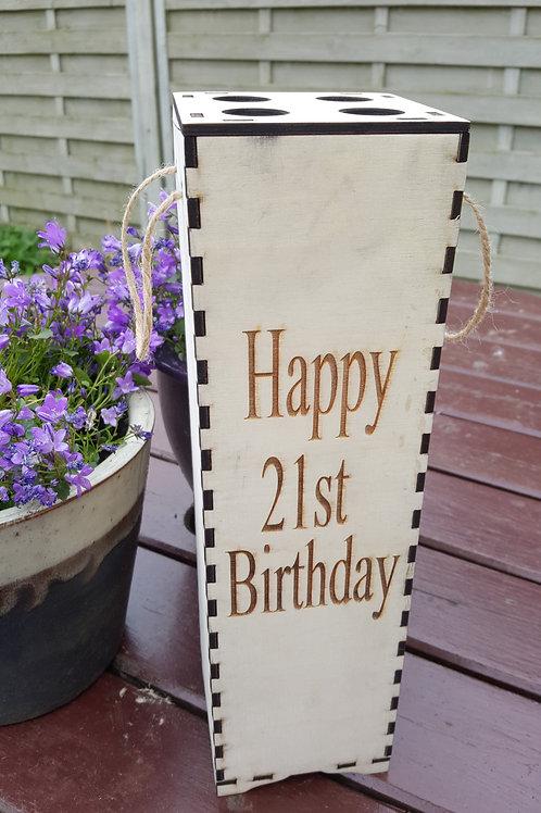 Age Birthday Wine Box