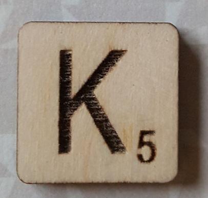 Letter K Scrabble Tile