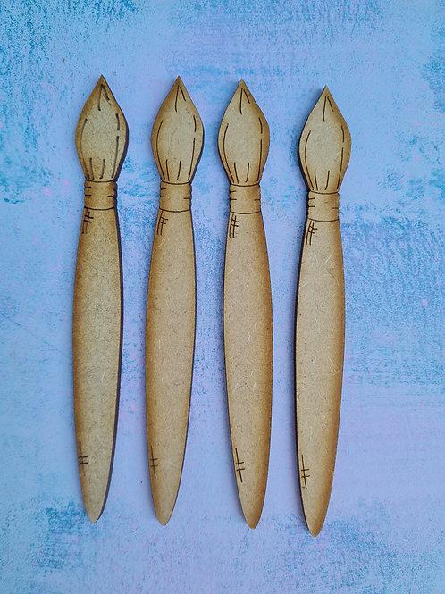 Stubby Artist Brushes