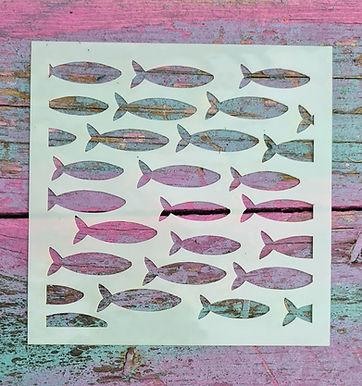 Small Fishes Stencil