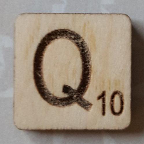Letter Q Scrabble Tile