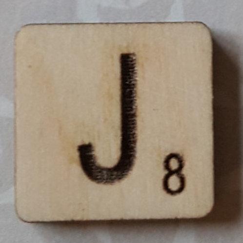 Letter J Scrabble Tile