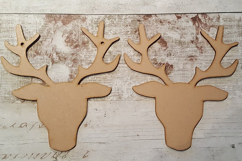 Front Facing stage heads, large MDF craft shapes with or without holes