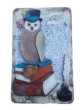 Owl Book Plaque