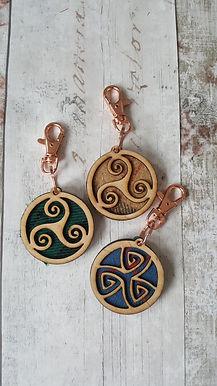 Tartan Celtic Keyring