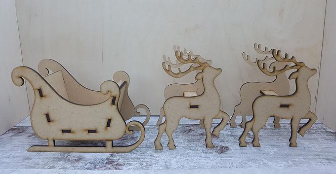 Sleigh and Reindeer kit
