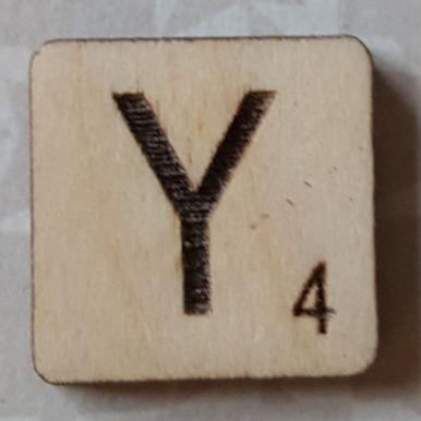 Letter Y Scrabble Tile