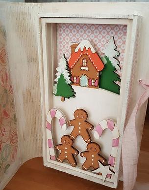 Gingerbread Xmas Bookbox Card
