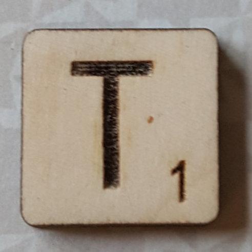 Letter T Scrabble Tile