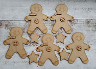 Gingerbread man bunting
