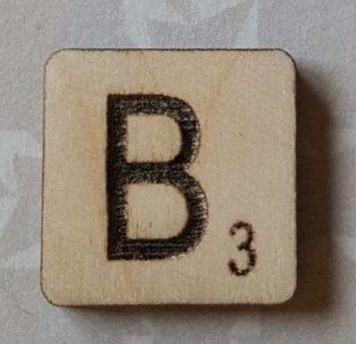 Letter B Scrabble Tile