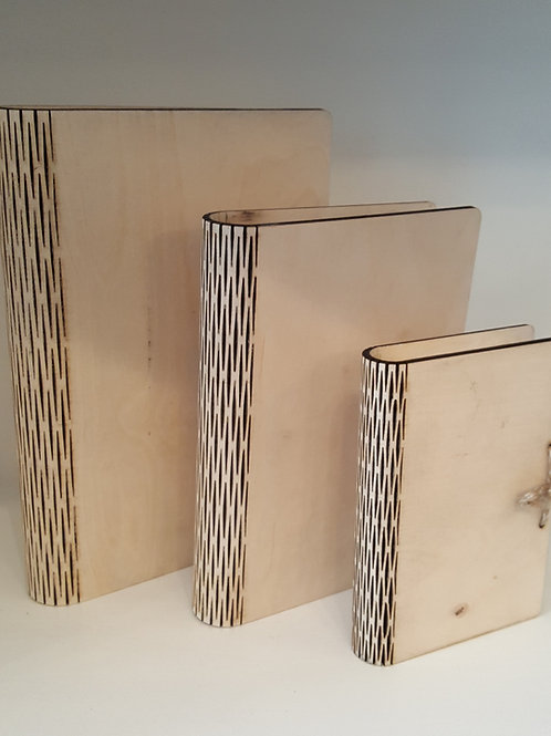 Book boxes set of three made from 4mm quality plywood.
