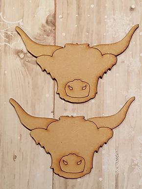 Highland Cow Heads