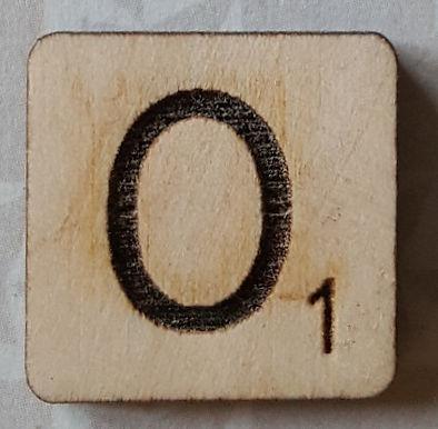 Letter O Scrabble Tile