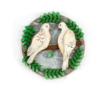 Turtle Doves Plaque