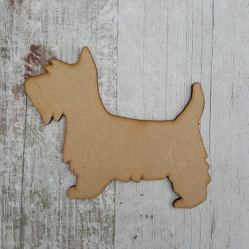 MDF craft blank Scotty dog for box frames etc