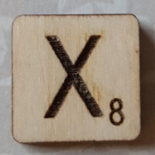 Letter X Scrabble Tile