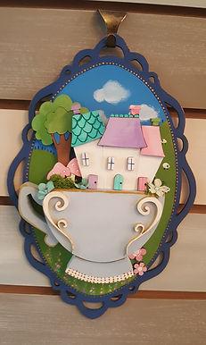 Teacup Plaque