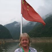 Eva on Yangtze river, China