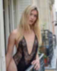 Lingerie Bodysuit French Calais Lace black