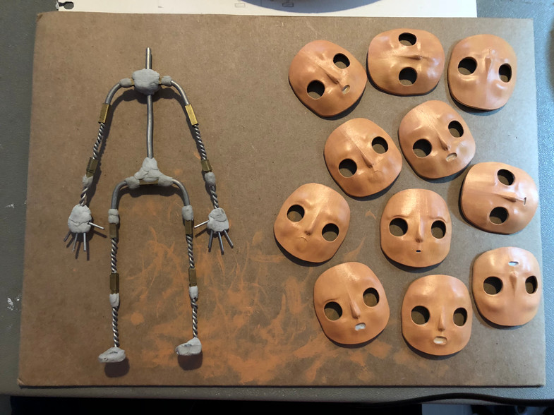 Armature and Faces in-progress